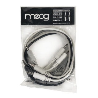 Moog 12'' Patch Cable Set of 5