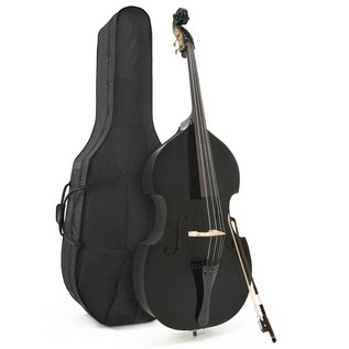Student 3/4 Double Bass, Black by Gear4music