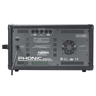 Phonic Powerpod620 Plus Powered Mixer - Rear View