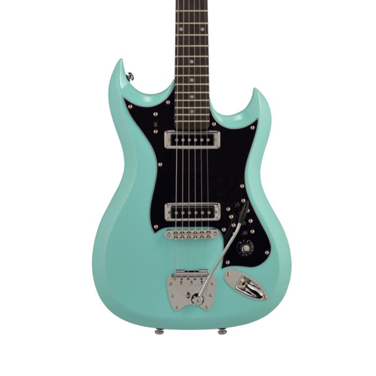 Hagstrom H-II Electric Guitar, Aged Sky Blue at Gear4music.com