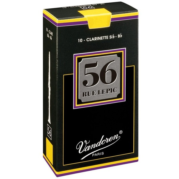 Vandoren 56 Rue Lepic Bb Clarinet Reed, Strength 4.0 (10 Pack)