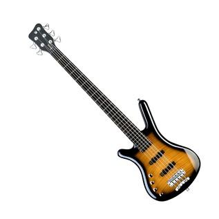 Warwick Rockbass Corvette Classic Left Handed 5 Bass, Almond Sunburst