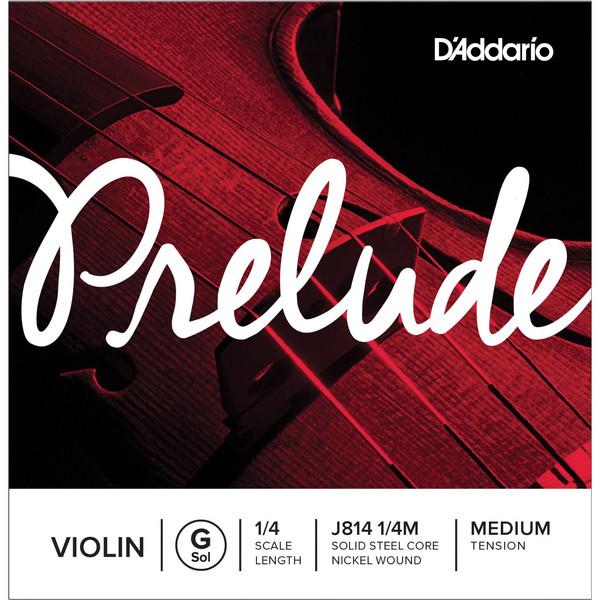 D'Addario Prelude Violin G String 1/4 Scale, Medium Tension