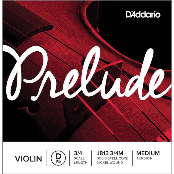 D'Addario Prelude Violin D String 3/4 Scale, Medium Tension