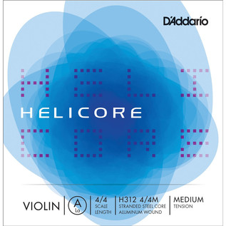 D'Addario Helicore Violin Aluminium Wound Single A String 4/4 Medium