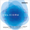 D'Addario Helicore violon Aluminium plaie simple un support corde 4/4