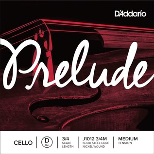 D'Addario Prelude Cello D string 3/4 Scale Medium Tension