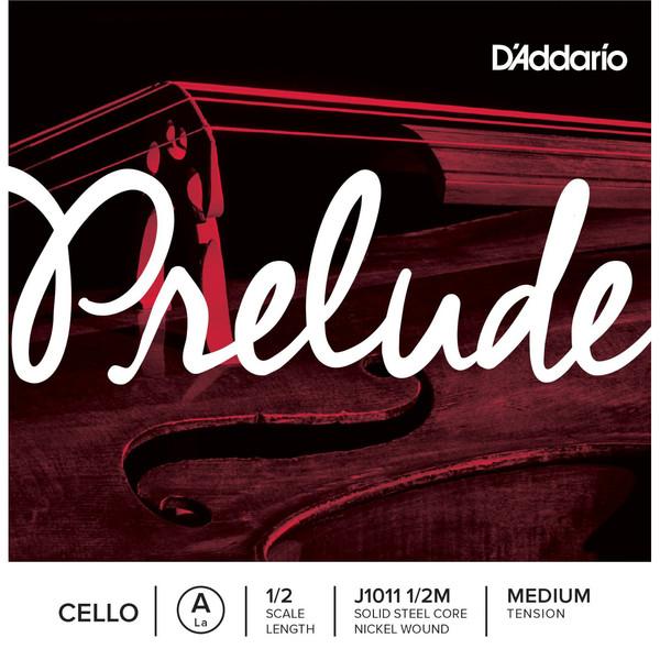 D'Addario Prelude Cello A String 1/2 Scale Medium Tension