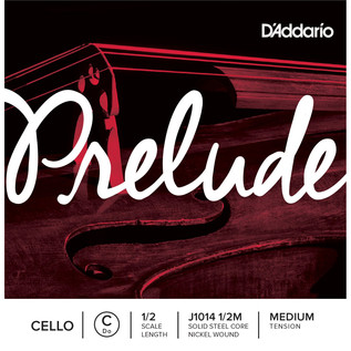 D'Addario Prelude Cello C String 1/2 Scale Medium Tension