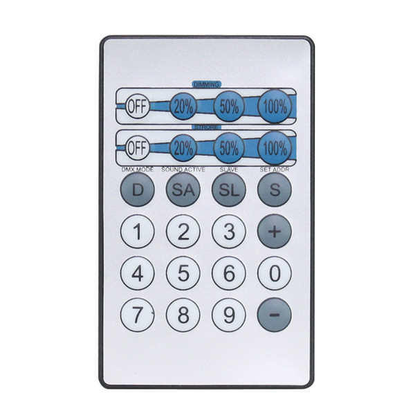 LEDJ IR Remote for CW, WW and UV Fixtures
