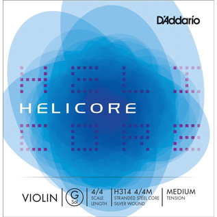 D'Addario Helicore Violin Single G String 4/4 Medium