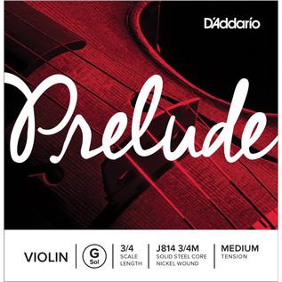 D'Addario Prelude Violin G String 3/4 Scale, Medium Tension