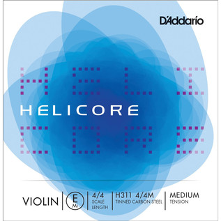 D'Addario Helicore Violin Single E String 4/4 Medium