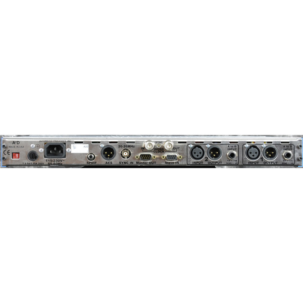 API A2D Two Mic Preamps Preamps with Digital Output - Rear View