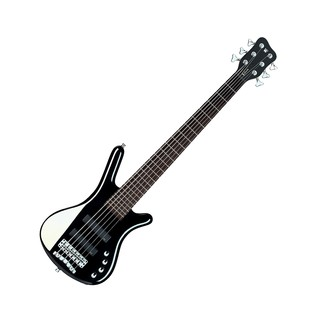 Warwick Rockbass Corvette Basic 6-String Bass, Black High Polish