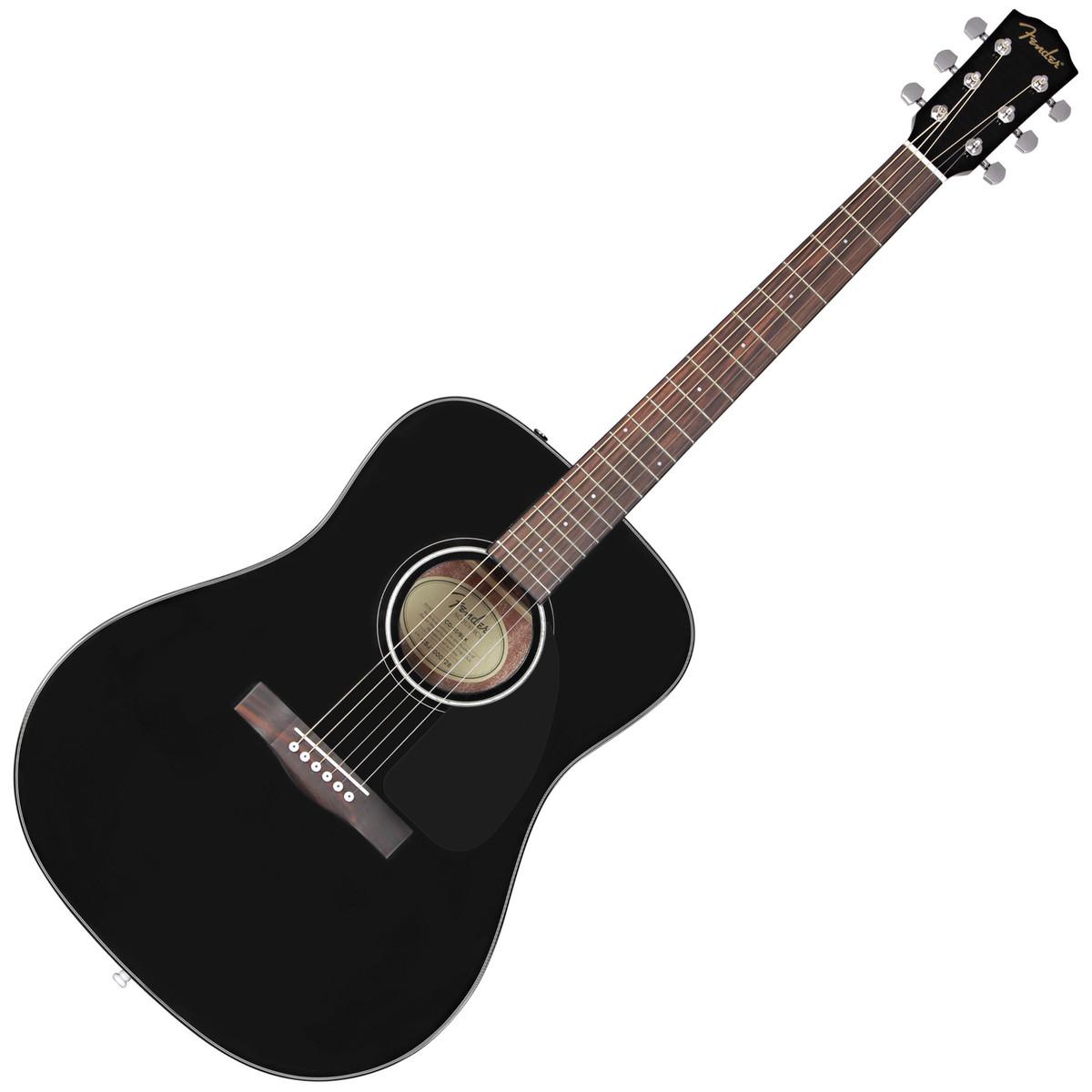 Disc Fender Cd 60 Acoustic Guitar Black Op Gear4music Com