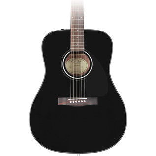 Fender CD-60 Acoustic Guitar Pack, Black