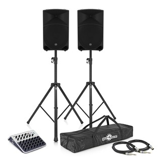 Mackie Thump 15 Complete PA System Bundle with Mixer and Stands