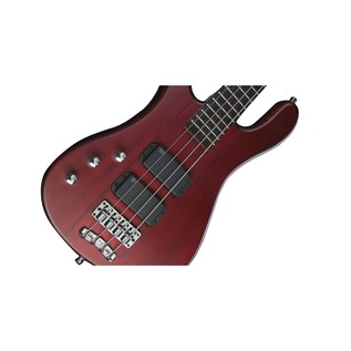 Warwick Rockbass Streamer Standard Left Handed 4-String Bass, Red