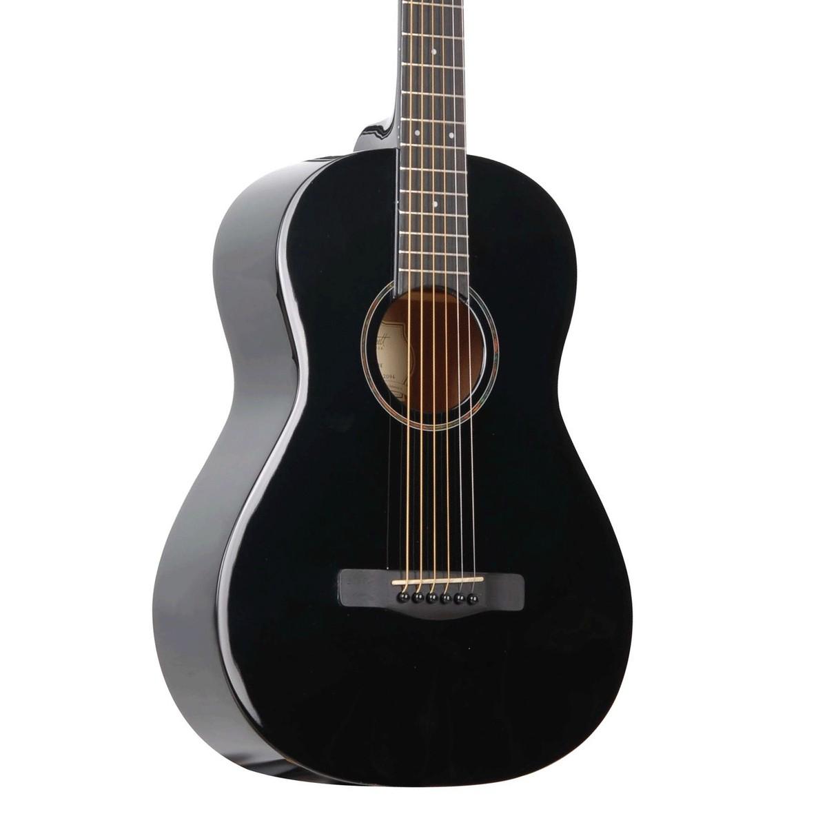 greg bennett guitare acoustique st6 1 3 4 noir. Black Bedroom Furniture Sets. Home Design Ideas