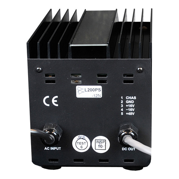 API L200PS Power Supply for L200R/500V - Rear View