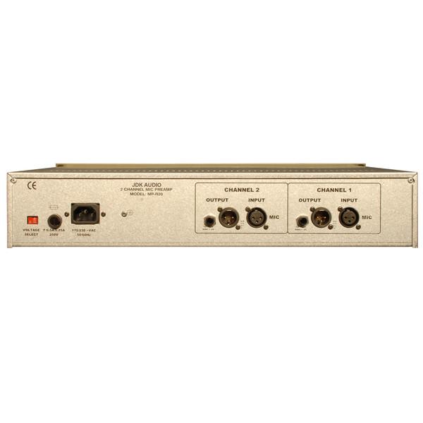 JDK R20 2 Channel Mic Preamp - Rear View
