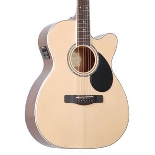Greg Bennett GOM-100SCE Electro Acoustic Guitar, Natural
