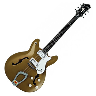 Hagstrom Viking Deluxe Semi-Hollow Guitar, Desert Haze