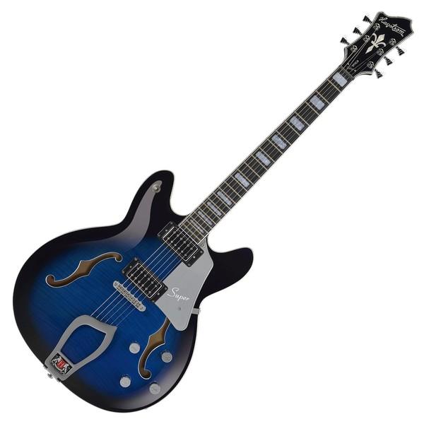 Hagstrom Super Viking Semi-Hollow Guitar, Dark Baltic Sea