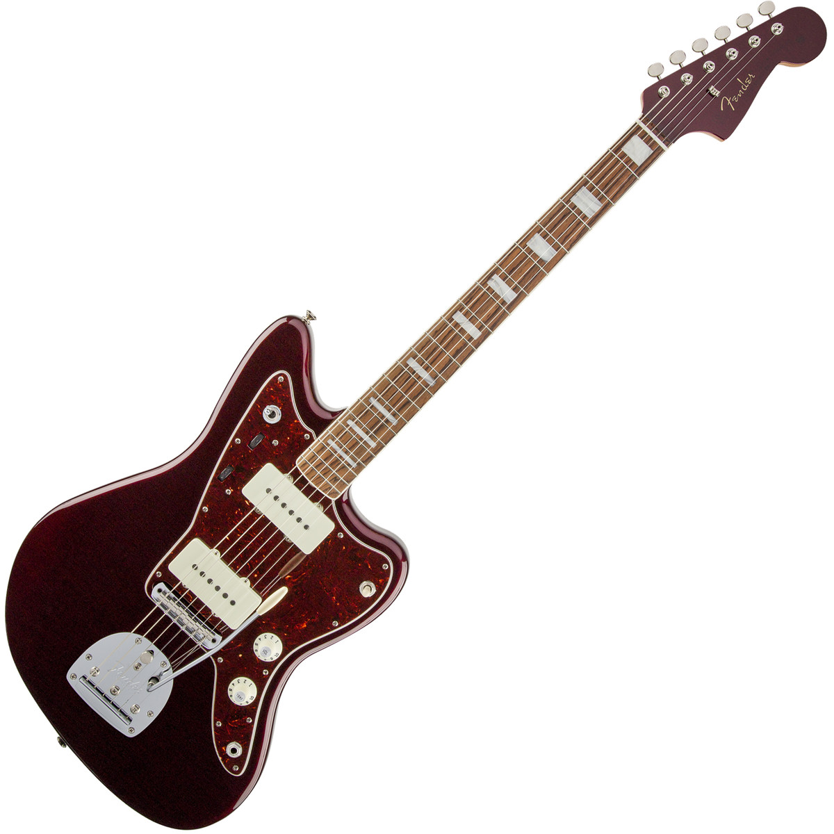 fender troy van leeuwen jazzmaster rw oxblood at gear4music. Black Bedroom Furniture Sets. Home Design Ideas