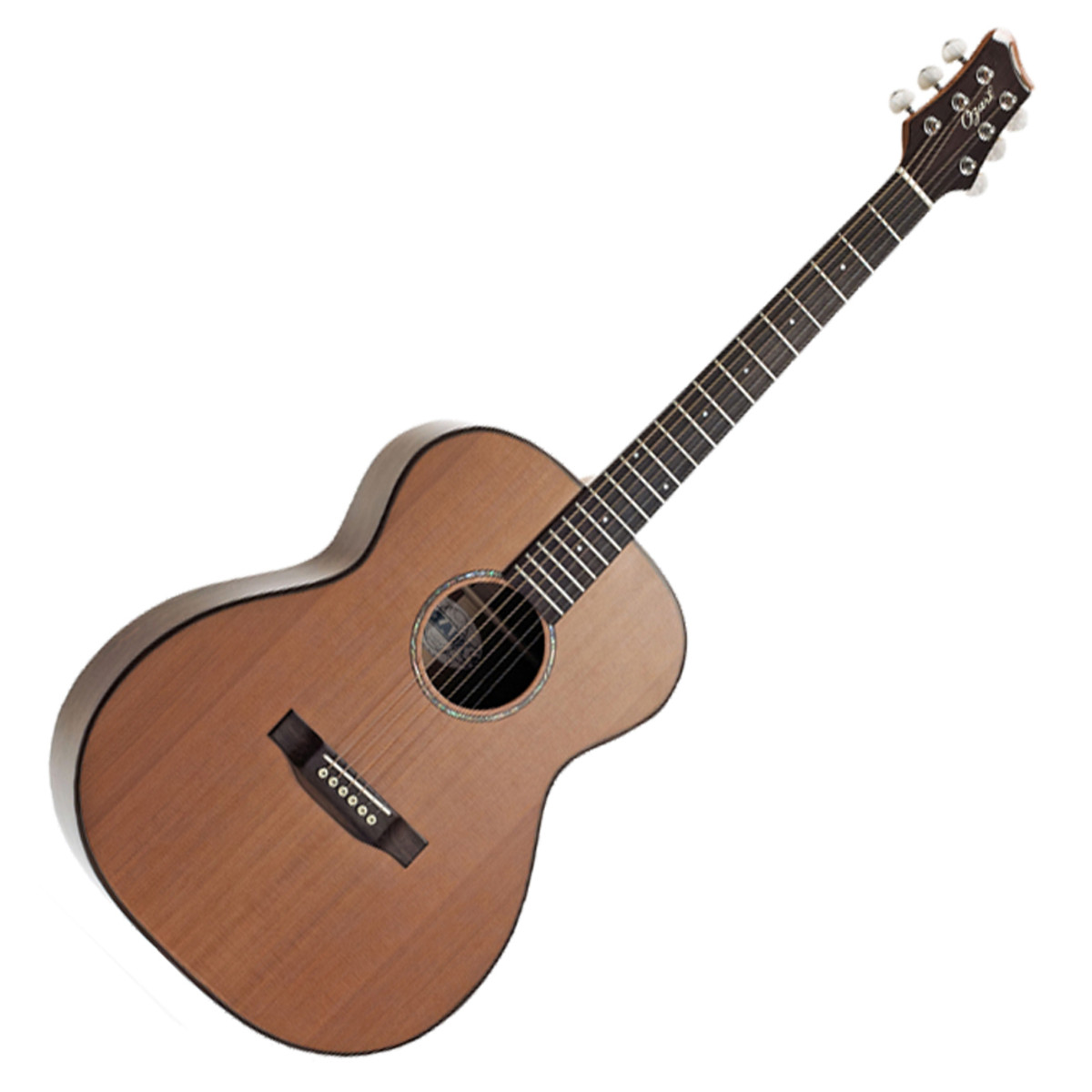 ozark small body acoustic folk guitar natural at gear4music. Black Bedroom Furniture Sets. Home Design Ideas