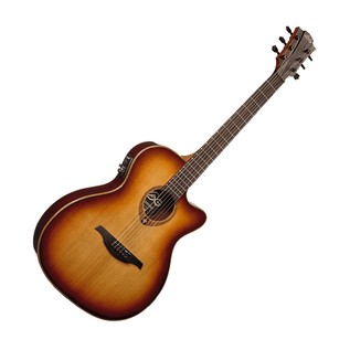 LAG Tramontane T100ASCE Auditorium Electro Acoustic Guitar, Brown
