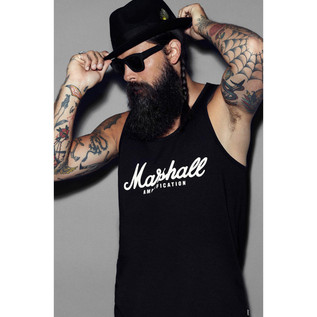 Marshall Standard Tank Top, Script Logo Graphic, Medium