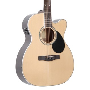 Greg Bennett GOM-100RSCE Electro Acoustic Guitar, Natural