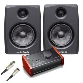 Resident Audio M8 Studio Monitors with Level Control Module