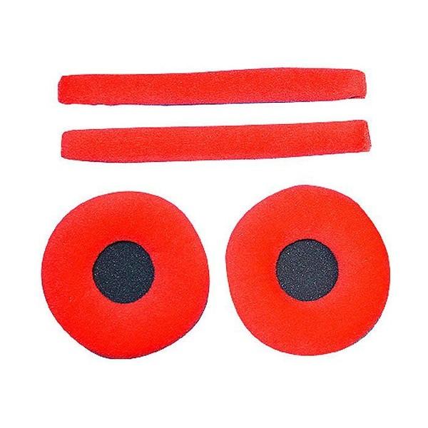 Zomo Velour Earpad Set for Sennheiser HD-25, Red