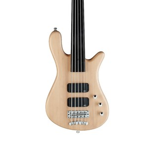 Warwick Rockbass Streamer Standard 5-String Bass, Fretless, Natural