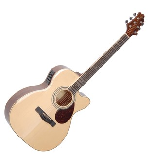 Greg Bennett OM-5CE Electro Acoustic Guitar, Natural
