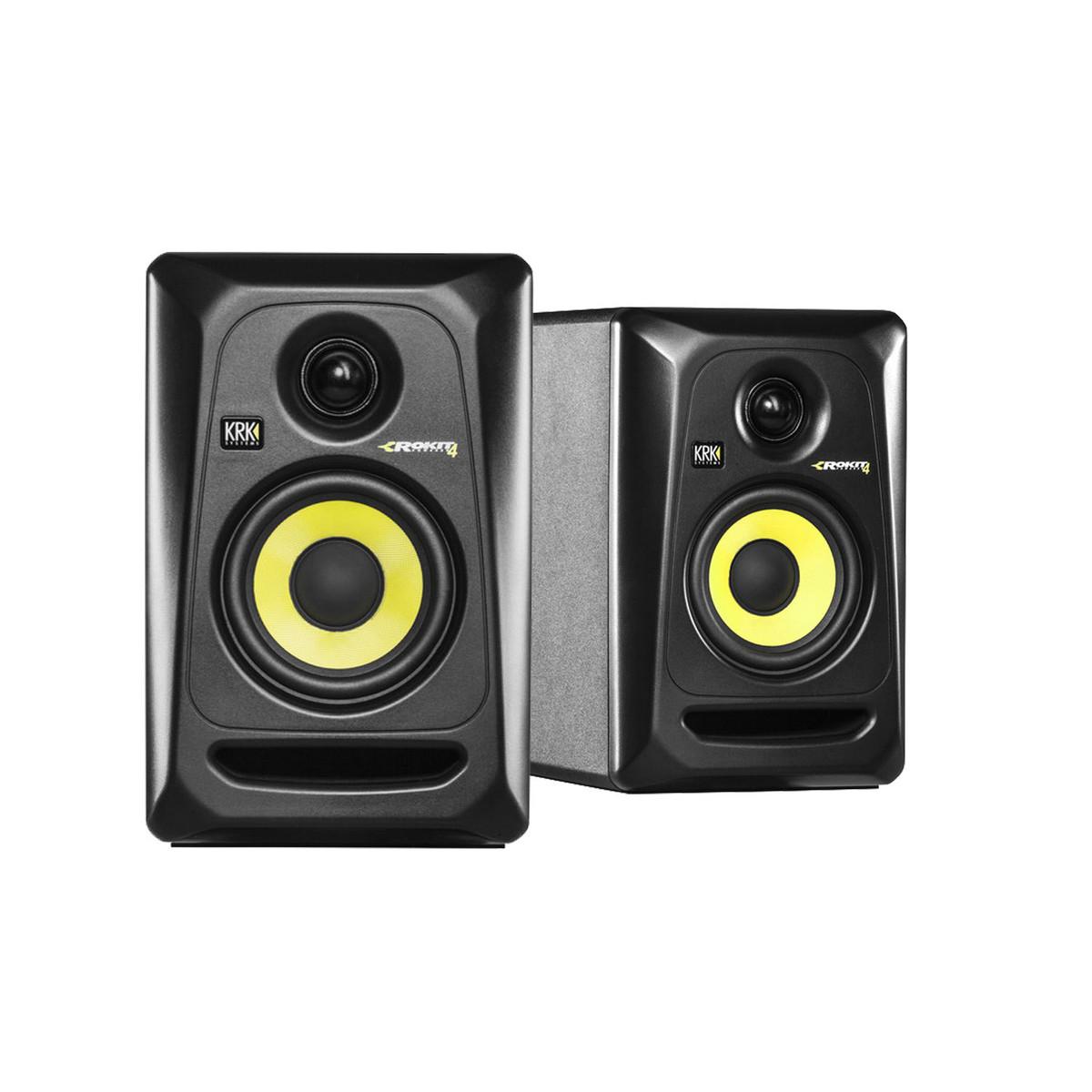 krk rokit rp4 g3 studio monitors with desktop stands pair at gear4music. Black Bedroom Furniture Sets. Home Design Ideas