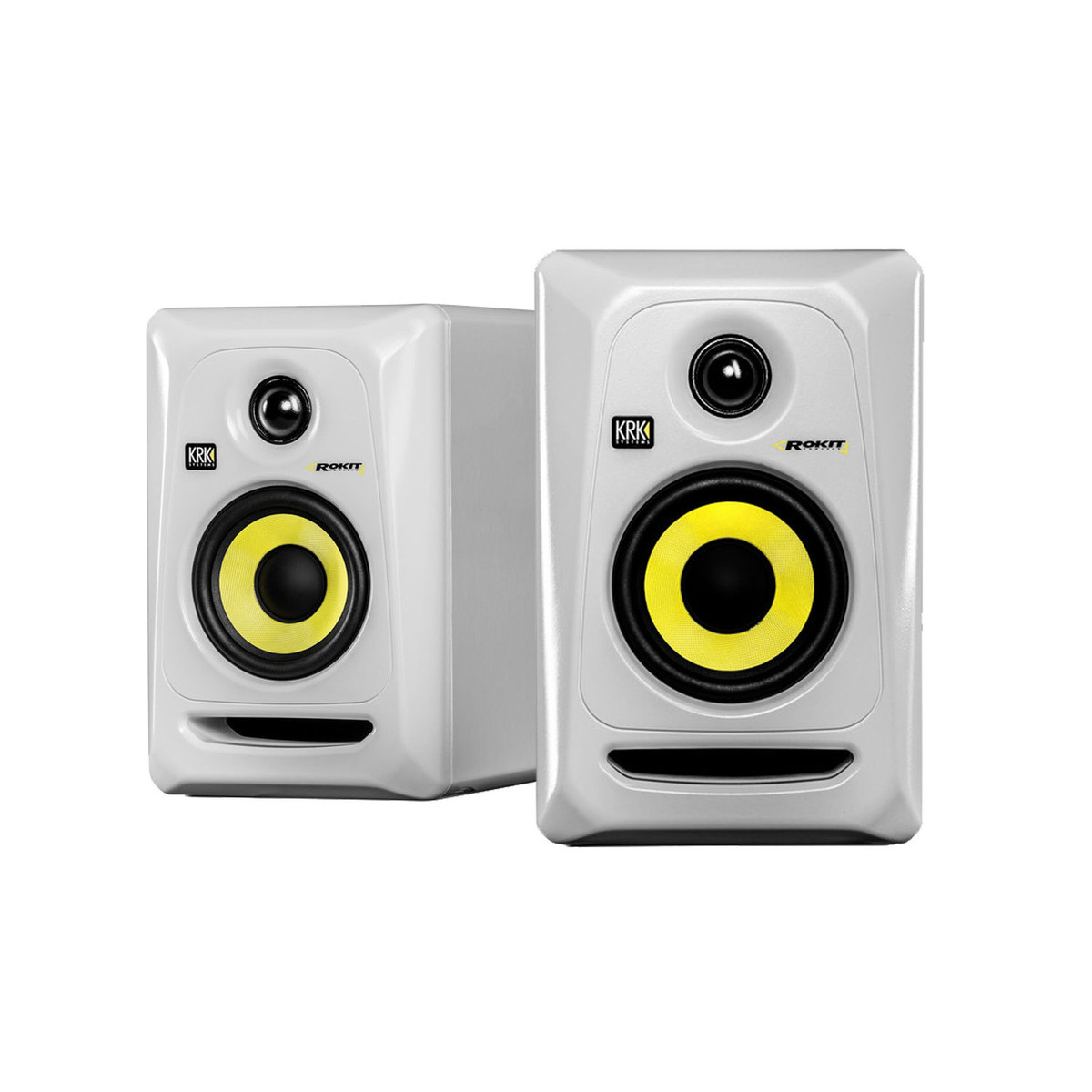 krk rokit rp4 g3 studio monitor in white pair at gear4music. Black Bedroom Furniture Sets. Home Design Ideas