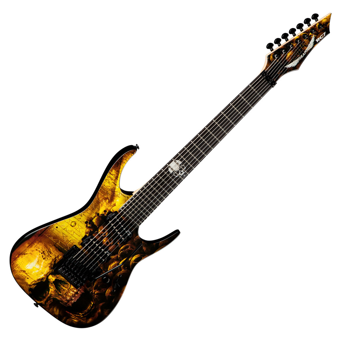 disc dean rusty cooley 7 string electric guitar skulls at gear4music. Black Bedroom Furniture Sets. Home Design Ideas