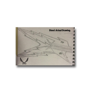 Dimebag Darrell's Original Razorbolt Drawing