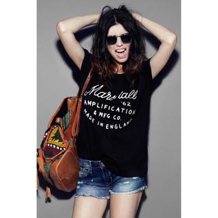 Marshall Standard T-shirt, Slant 62 Graphic, Ladies Medium