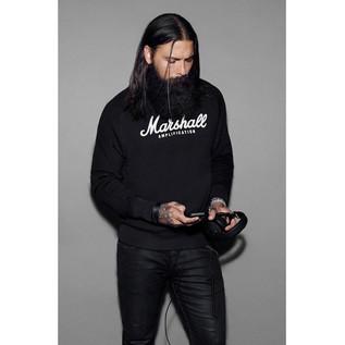 Marshall Crewneck Sweatshirt, Script Logo Graphic, Unisex Extra Large