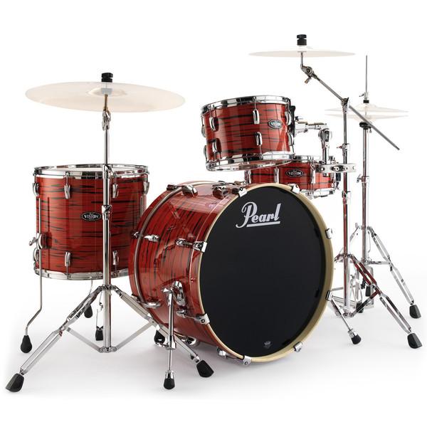 pearl vision birch vba ltd edition 22 39 39 drum kit tiger red at gear4music. Black Bedroom Furniture Sets. Home Design Ideas