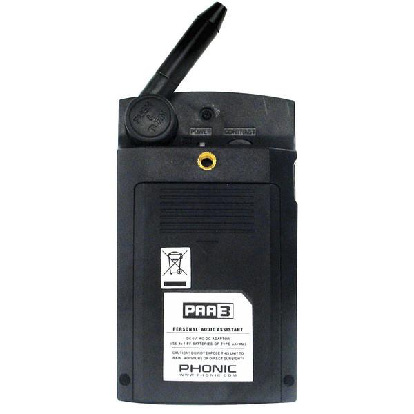 Phonic PAA3 Audio Analyzer - Rear View