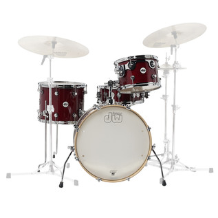 DW Frequent Flyer Gloss Lacquer 20'' Maple Shell Pack, Cherry Stain