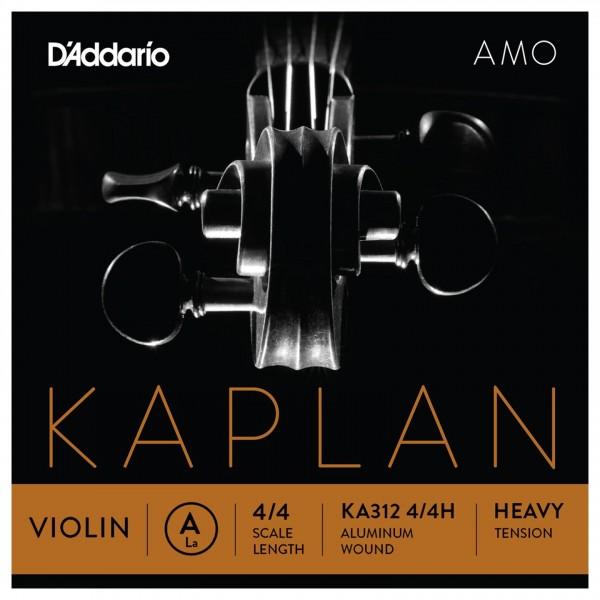 D'Addario Kaplan Amo Violin A String, 4/4 Size, Heavy