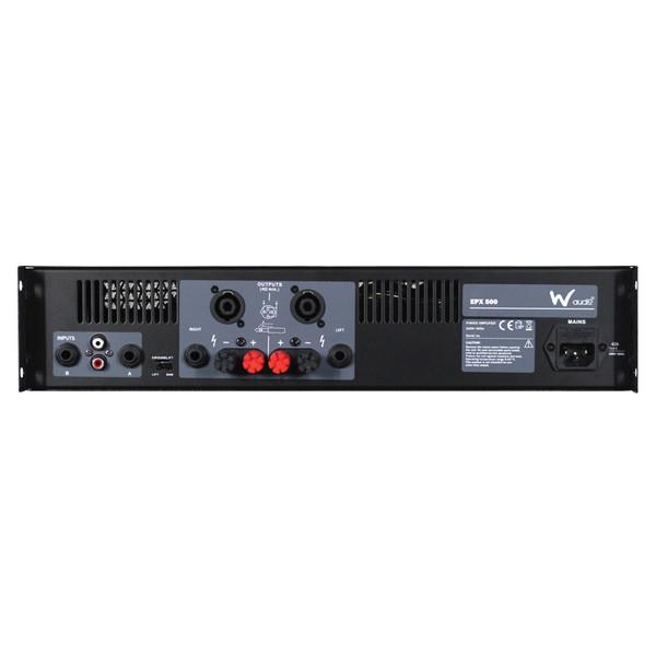W Audio EPX 500 Amplifier - Rear View