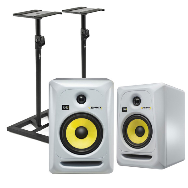 KRK Rokit RP6 G3 Active Monitor, Pair (White)